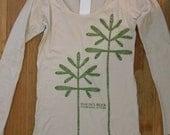 Long-sleeve Women's tshirt featuring the Simon's Rock sapling design