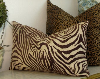 Zebra Lumbar Pillow Exotic Brown