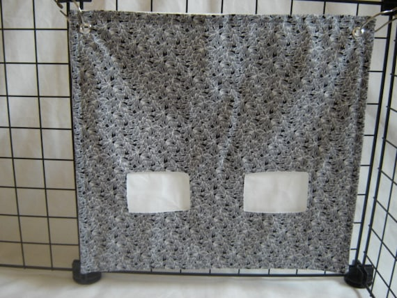 """The """"Pig""""-Out Pouch.. Small little leaves in grey, white and black on white"""