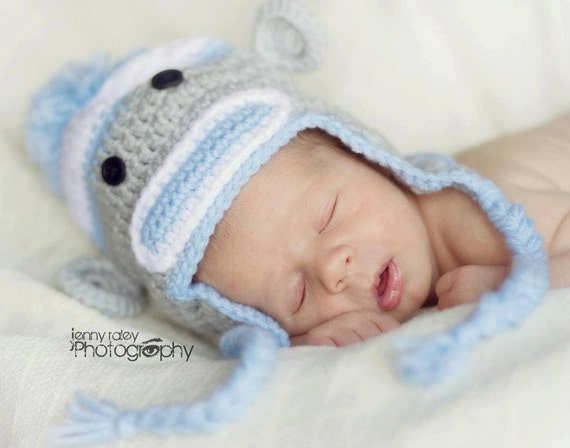 Sock Monkey Hat Crochet Pattern-Child PATTERN