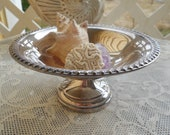 1960's Cheshire Silver Plate Candy Dish / Compote / Key or Change Dish