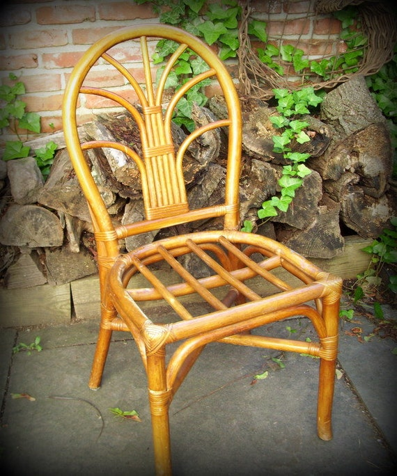 Vintage Bamboo Rattan Side Chair By Merrilyverilyvintage