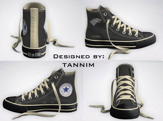 Custom Game of Thrones: House Stark Converse Chucks