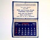 1944 Advertisement calendar
