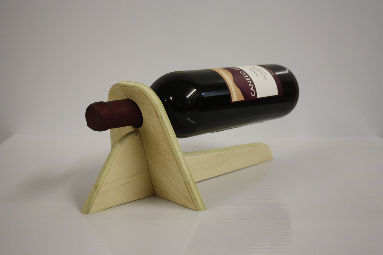 Wood Wine Rack For Single Bottle By Focofurniture On Etsy