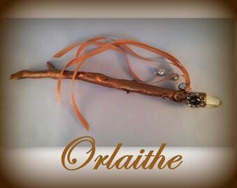 Golden Driftwood Wand - Orlaithe