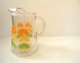 vintage orange, lemon and lime slice pitcher