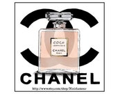 Coco Mademoiselle Perfume, Chanel, Digital Download Ecolgical print, Art 14 X 10 No. 36