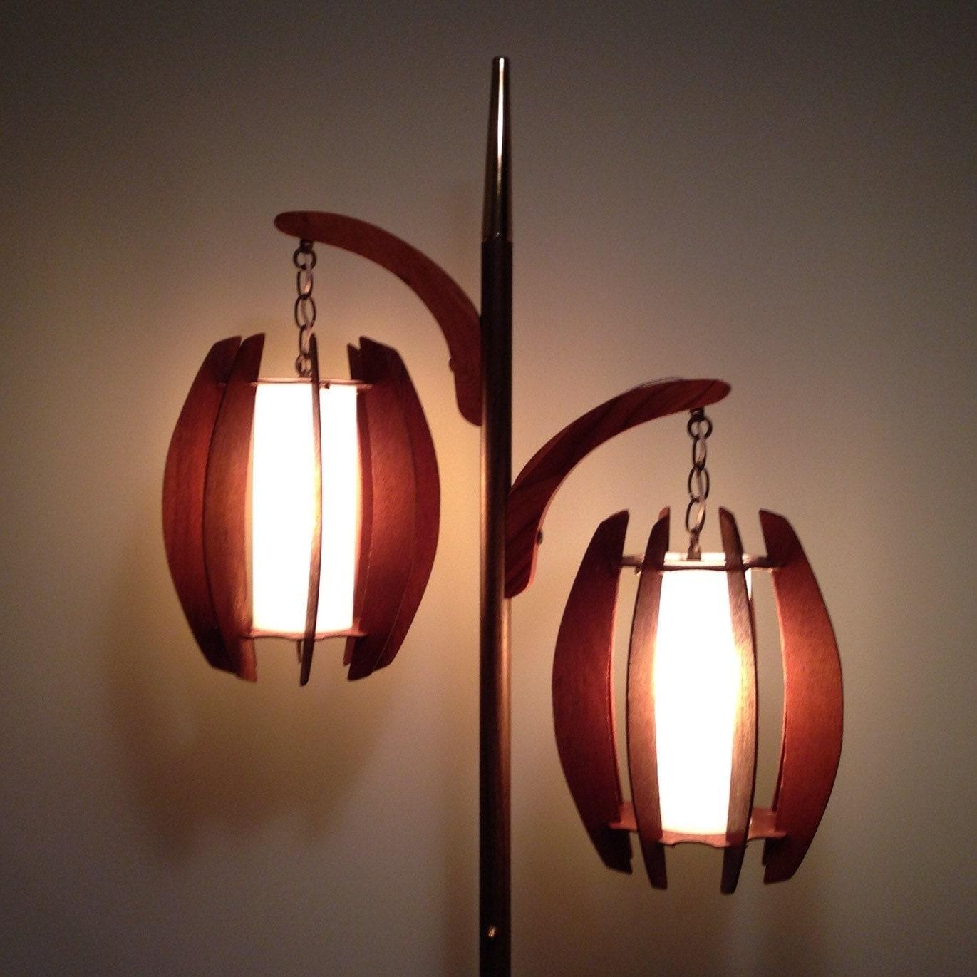 Mid Century Danish Modern Floor Lamp by TwoGuysVintage on Etsy