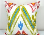 20 x 20 inch ikat Pillow cover.