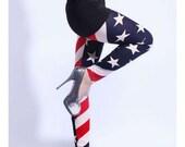 SALE-American Flag Print Leggings