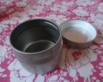 Round Metal Tin w/ Lid - 3 oz. - SET OF 9