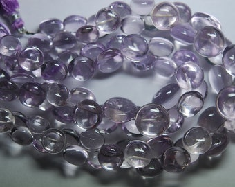 354 Carats, 9 Inch Strand,AAA Quality-PINK AMETHYST Smooth Onion Shape Briolettes  13-10mm size,
