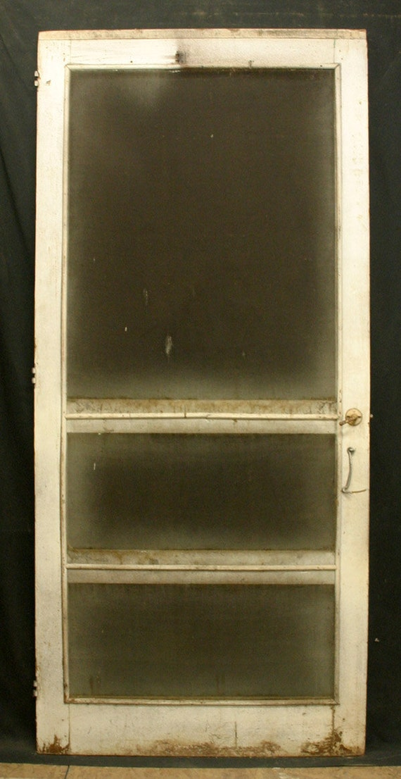 items similar to 35 x79 antique victorian exterior entry On exterior wood door with screened window