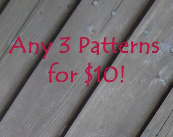 3 Patterns for 10 Dollars