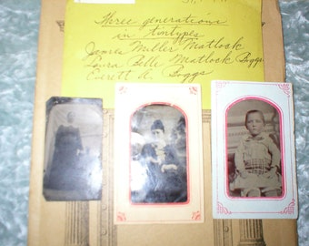 1922 St. Louis High School Annual Plus 3 Tin Types of 3 Generations of Graduate
