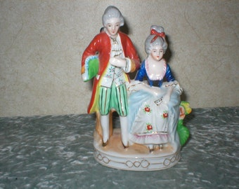 Occupied Japan Large Porcelain Couple Figurine