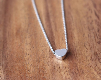 SALE 25% OFF - Tiny Heart necklace - Silver