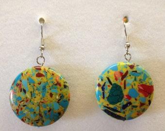 Multi-Colored Bead Earrings