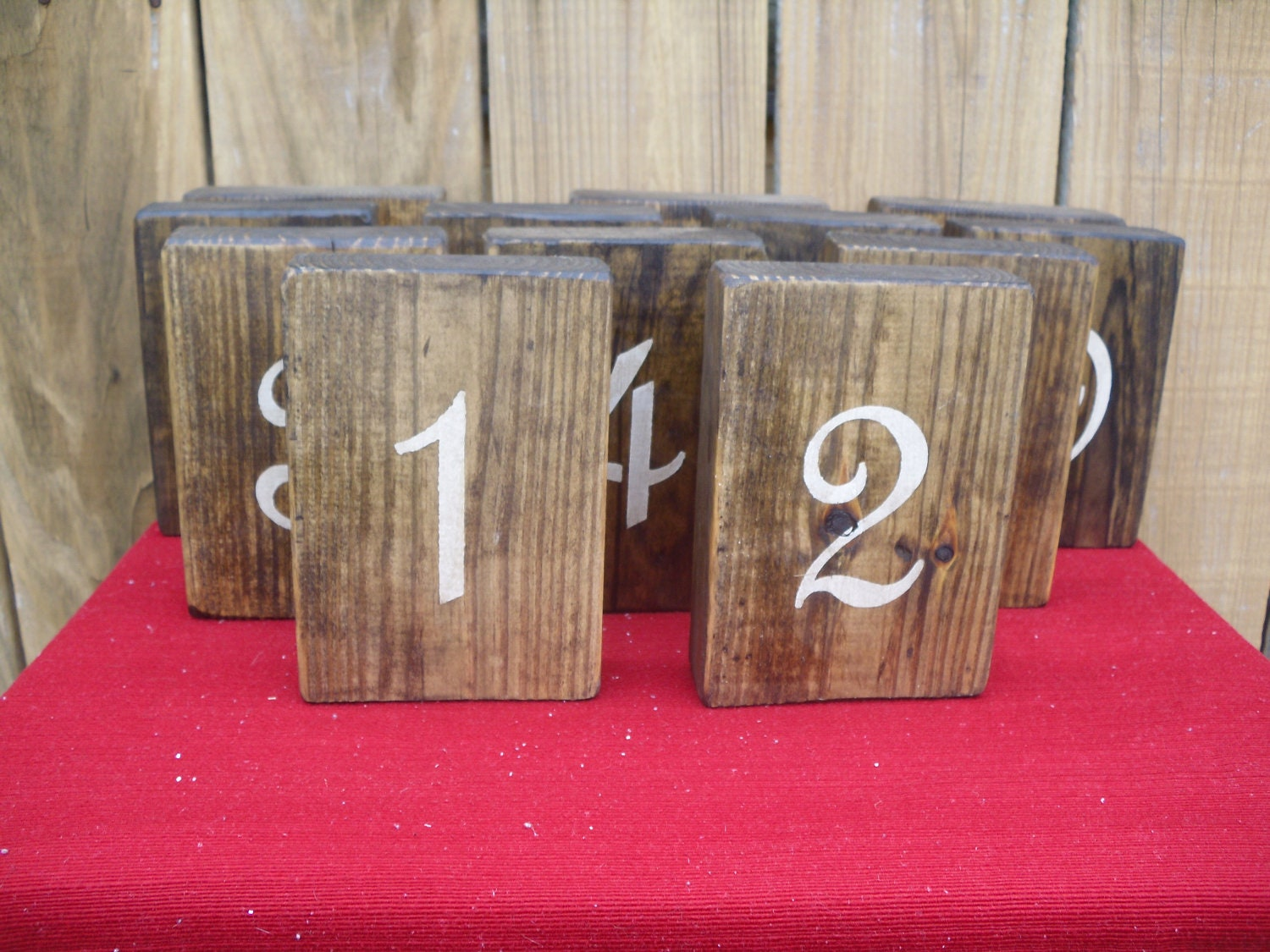 Wooden Table Numbers ~ Wooden rustic table numbers for weddings by ciderhousemill