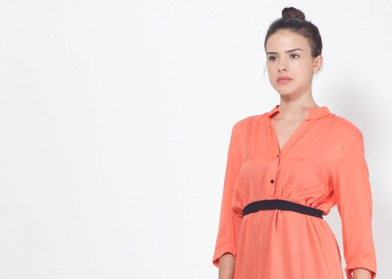 CORAL PINK DRESS. Urban Women Clothing. Cocktail Party Dress.
