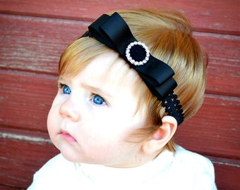 Baby Lace Headband.Baby Girl Lace Headband.Lace Headband.Baby Girl Headbands.Infant Lace Headband.Black Lace Headband.Newborn Lace Headband