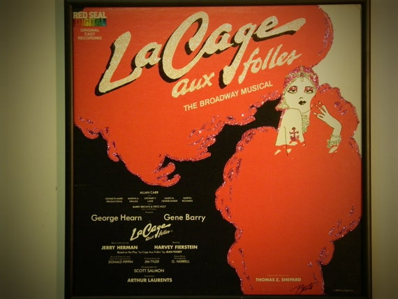 Glittered Record Album - La Cage aux Folles