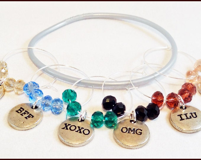 Wine Charms, Texting Wine Charms - 6 pack