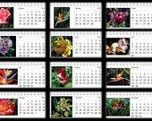 2013 Calendar - Flower Art  Desk Calendar - 8x4 - 12 Months of Flower Paintings by Arena Shawn - Paper Goods - Gifts Under 30
