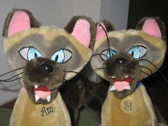 Walt Disney S Si Amp Am Siamese Cat Plush Toy From Lady And