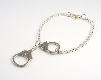 Silver Handcuff Bracelet, Handcuff Jewelry