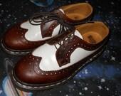 1990s Vintage grunge made In England Doc Dr Martens wingtip Spectator oxfords Shoes Uk 5 Us 7