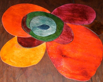 Wood Art Puzzle Sculpture: Poppy in the WInd