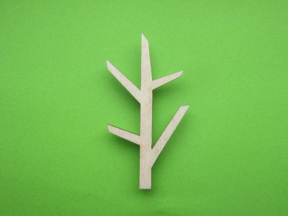 Tree..wooden brooch