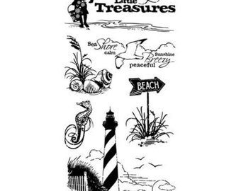 Inkadinkado Clear Stamp - Down by the Seaside 60-30059 * ON SALE *