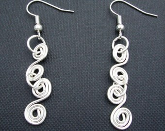 Crafted Twirl Chain Earrings