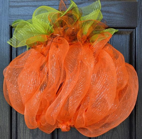 Fall Wreath - Fall Decor - Halloween Wreath - Deco Mesh Wreath - Front Door - Thanksgiving Wreath - Handmade - Custom Wreath