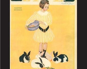 April 6, 1911 Original Life Magazine Cover, matted 9 x 11 inches, artist C Coles Phillips