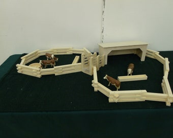 Ranch play set solid wood hnad made Farm paly set