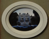 Disneyland - New Orleans Square - Blue - Small Magnetic Wooden Frame