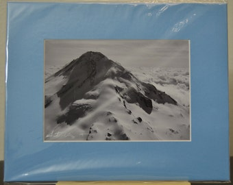 SALE - 5x7 matted print - photograph - fine art - home decor - Mt. Hood From the Sky