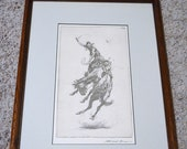 "John Edward Borein Etching Copy - ""Scratchin' High"""