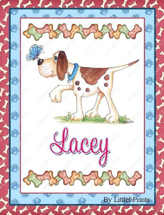 Spiral bound Personalized One Subject Notebook Steno Pad or Notepad Puppy Dog Design