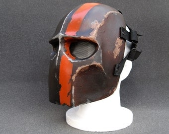 Army of Two v2 Style Airsoft Mask Weathered 1 (Rust) - Made to order -