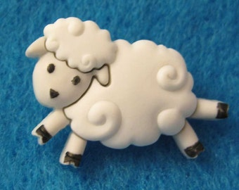 Sheep Buttons X 6