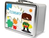 Robin Superhero Theme LunchBox - Gifts for Boys, Metal Lunch Box