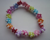 Childrens Pony bead flower bracelet