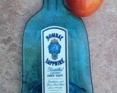 Bombay Sapphire London Dry Gin Slumped Melted Flattened Flat Wine Bottle Cheese Tray Spoon Rest Glass Plate Eco Gift