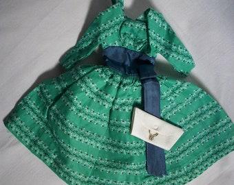 Barbie Swingin' Easy Dress with clutch Vintage Rare