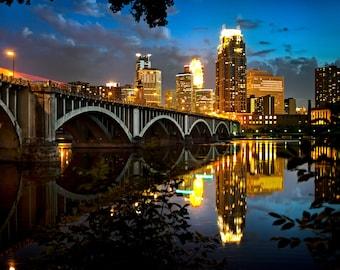 Third Avenue at Night - Minneapolis, MN - Minneapolis Skyline Photography